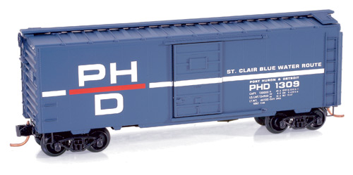 N Scale - Micro-Trains - 020 00 150 - Boxcar, 40 Foot, PS-1 - Port Huron & Detroit - 1309