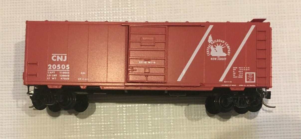 N Scale - Micro-Trains - 20196 - Boxcar, 40 Foot, PS-1 - Jersey Central - 20505