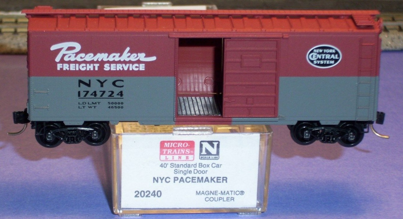 N Scale - Micro-Trains - 20240 - Boxcar, 40 Foot, PS-1 - New York Central - 174724