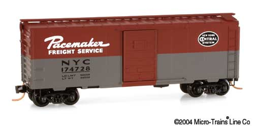 N Scale - Micro-Trains - 20240 - Boxcar, 40 Foot, PS-1 - New York Central - 174728