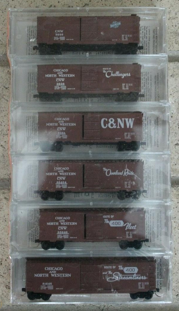 N Scale - Micro-Trains - 20252 - Mixed Freight Consist - Chicago & North Western
