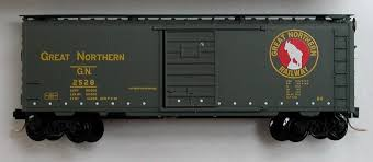 N Scale - Micro-Trains - 20406 - Boxcar, 40 Foot, PS-1 - Great Northern - 2528
