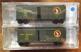 N Scale - Micro-Trains - 20406-2 - Boxcar, 40 Foot, PS-1 - Great Northern - 2-Pack