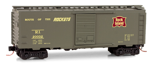 N Scale - Micro-Trains - 020 00 566 - Boxcar, 40 Foot, PS-1 - Rock Island - 20032