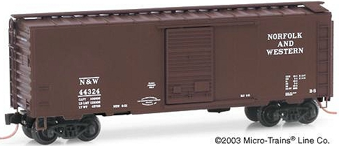 N Scale - Micro-Trains - NSC 03-117 - Boxcar, 40 Foot, PS-1 - Norfolk & Western - 44324