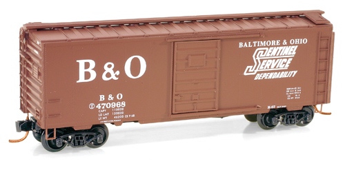 N Scale - Micro-Trains - 020 00 766 - Boxcar, 40 Foot, PS-1 - Baltimore & Ohio - 470968