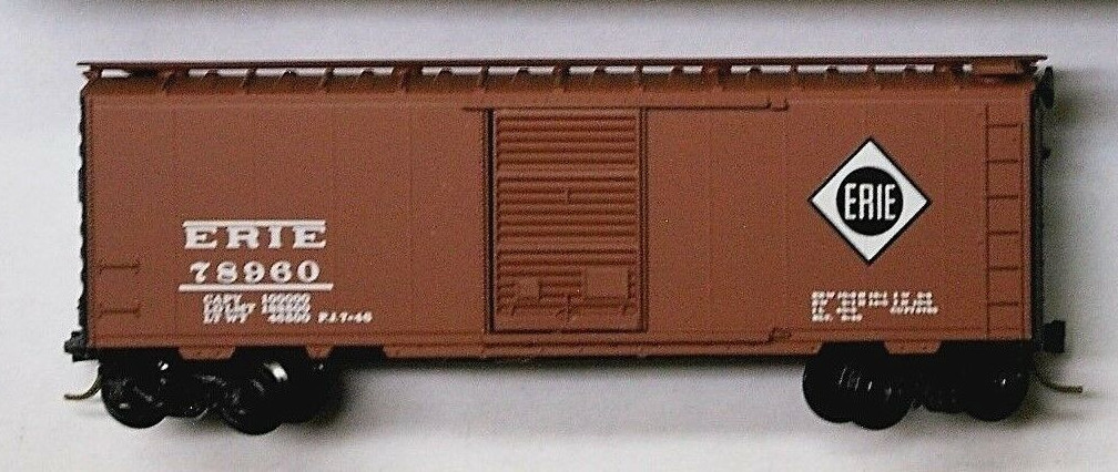 N Scale - Micro-Trains - 20870 - Boxcar, 40 Foot, PS-1 - Erie - 78960