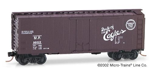 N Scale - Micro-Trains - 21030 - Boxcar, 40 Foot, Steel Plug Door - Missouri Pacific - 96022