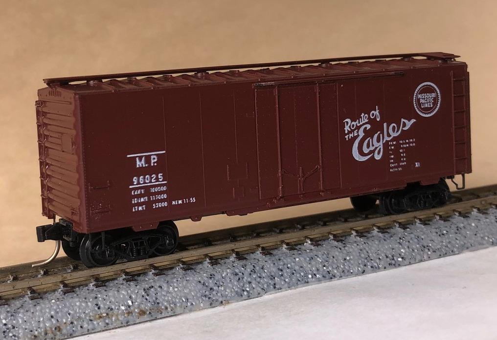 N Scale - Micro-Trains - 21030 - Boxcar, 40 Foot, Steel Plug Door - Missouri Pacific - 96025