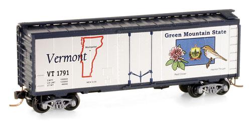 N Scale - Micro-Trains - 021 00 402 - Boxcar, 40 Foot, Steel Plug Door - State Cars - 1791