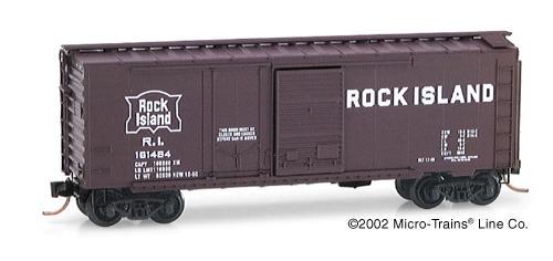 N Scale - Micro-Trains - 22060 - Boxcar, 40 Foot, Steel Combo Door - Rock Island - 161464