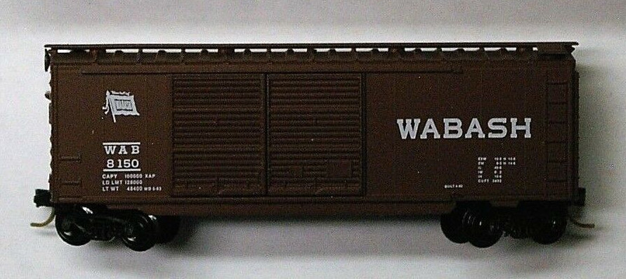 N Scale - Micro-Trains - 23130 - Boxcar, 40 Foot, PS-1 - Wabash - 8150