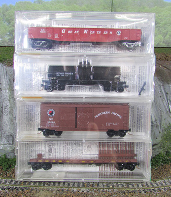 N Scale - Micro-Trains - 23252 - Mixed Freight Consist, North America, Transition Era - Various - 4-Pack