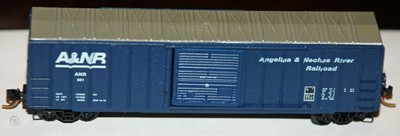 N Scale - Micro-Trains - 25150 - Boxcar, 50 Foot, FMC, 5077 - Angelina & Neches River Railroad - 301