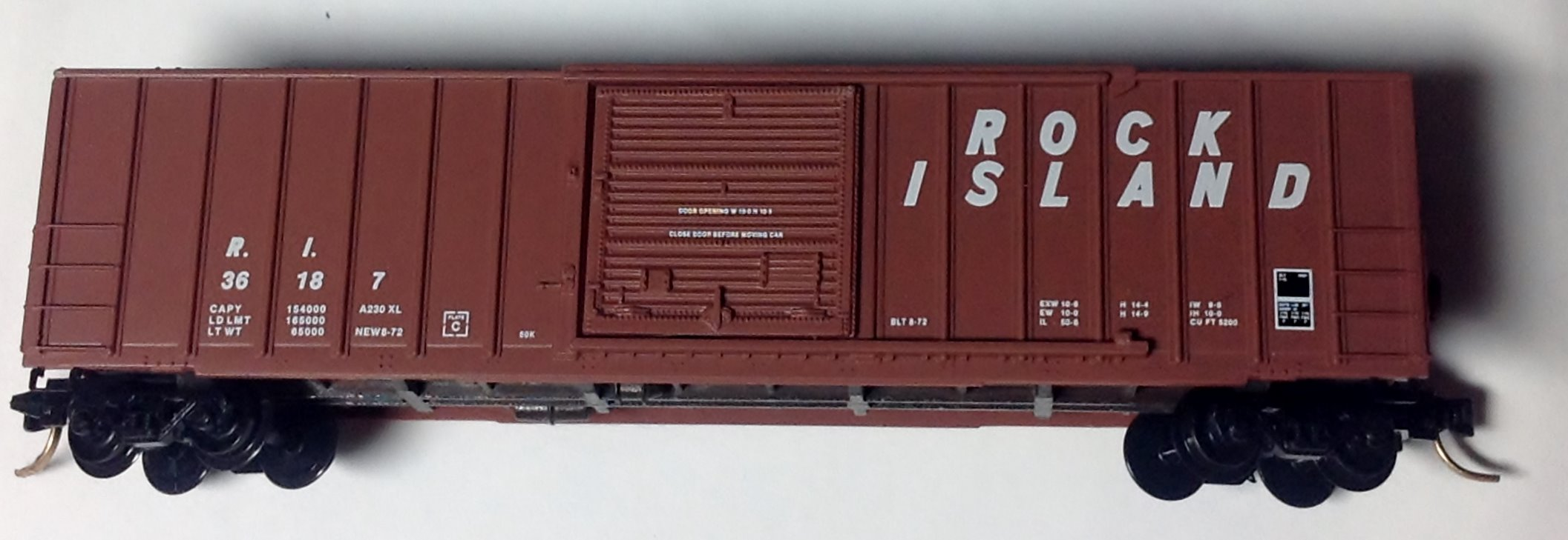 N Scale - Micro-Trains - 25430 - Boxcar, 50 Foot, FMC, 5077 - Rock Island - 36187