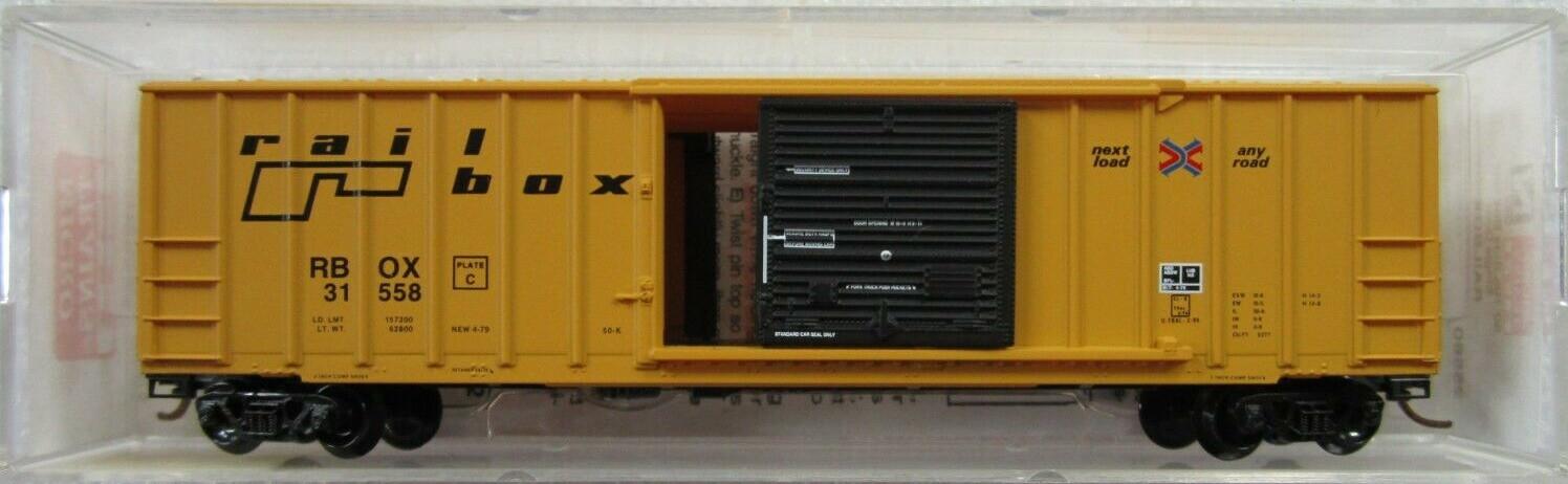 N Scale - Micro-Trains - 25562 - Boxcar, 50 Foot, FMC, 5077 - RailBox - 31558