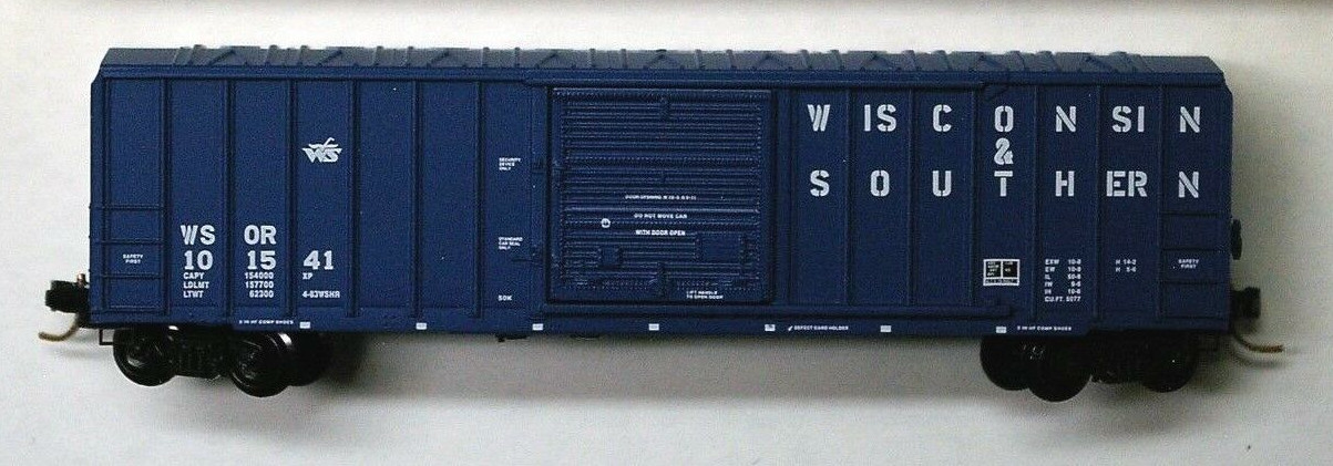 N Scale - Micro-Trains - 25570 - Boxcar, 50 Foot, FMC, 5077 - Wisconsin & Southern - 101545
