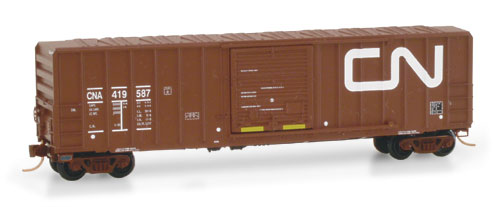 N Scale - Micro-Trains - 25650 - Boxcar, 50 Foot, FMC, 5077 - Canadian National - 419587