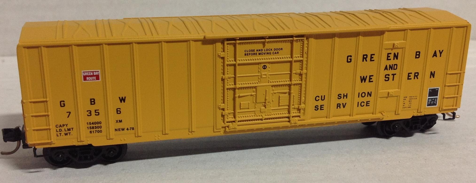 N Scale - Micro-Trains - 27080 - Boxcar, 50 Foot, Steel - Green Bay & Western - 7356