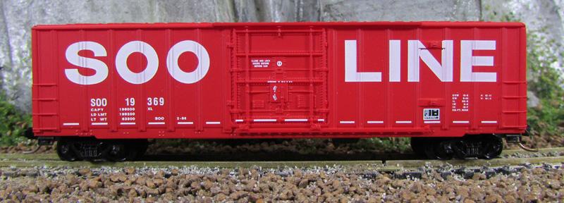 N Scale - Micro-Trains - 27260 - Boxcar, 50 Foot, Steel - SOO Line - 19369