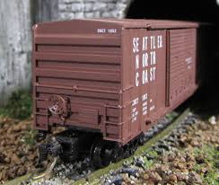 N Scale - Micro-Trains - 30160 - Boxcar, 50 Foot, Steel - Seattle & North Coast - 1052