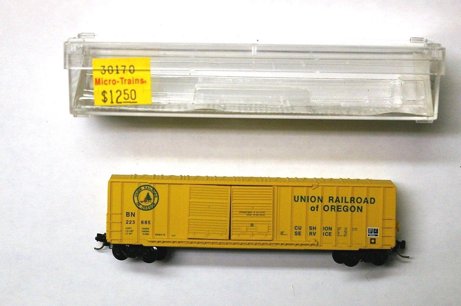 N Scale - Micro-Trains - 30170 - Boxcar, 50 Foot, Steel - Union Railroad of Oregon - 223665