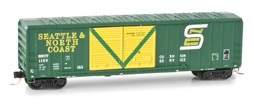 N Scale - Micro-Trains - 030 00 240 - Boxcar, 50 Foot, Steel - Seattle & North Coast - 1155