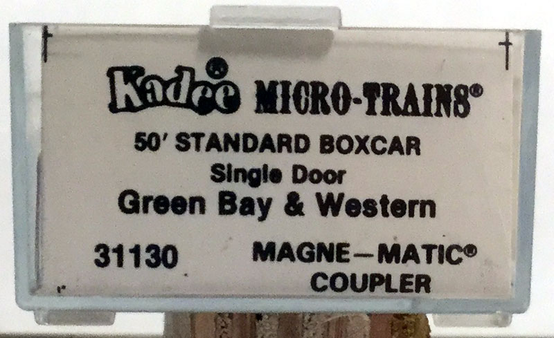 N Scale - Micro-Trains - 31130 - Boxcar, 50 Foot, PS-1 - Green Bay & Western - 3027