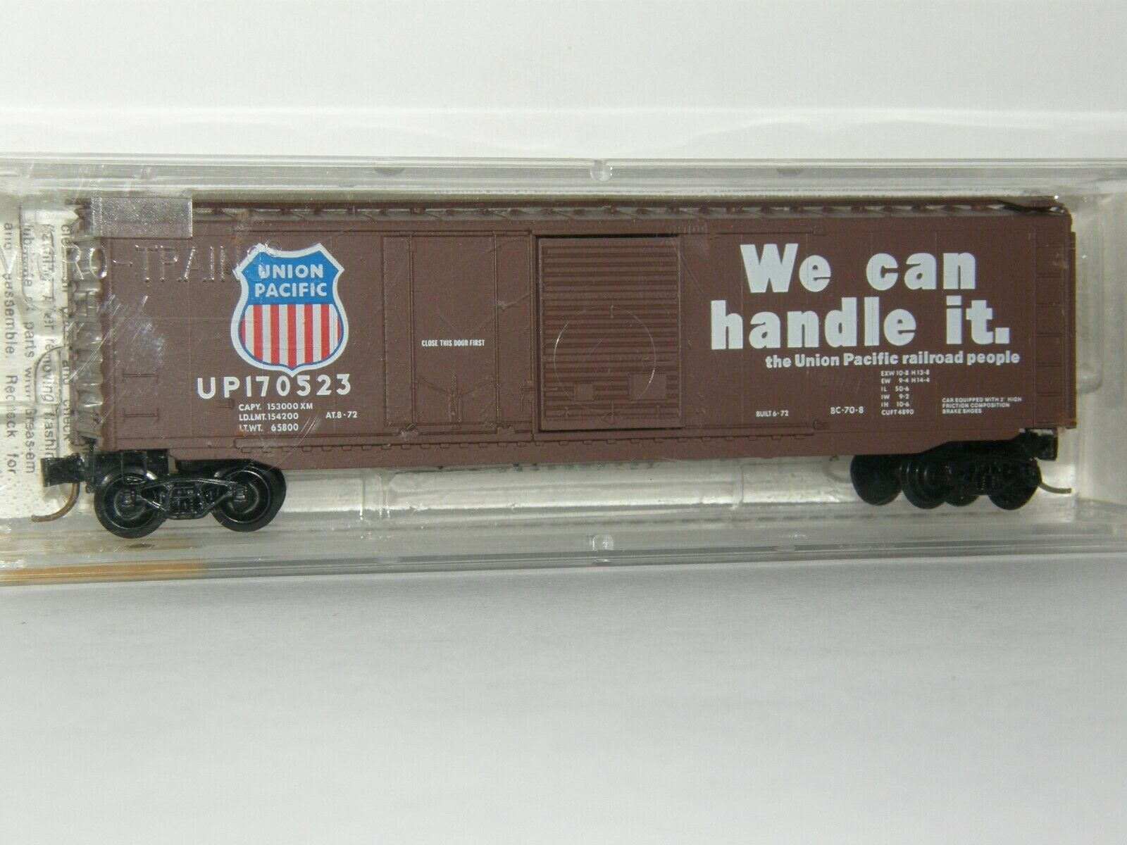 N Scale - Micro-Trains - 33050 - Boxcar, 50 Foot, Steel - Union Pacific - 170523
