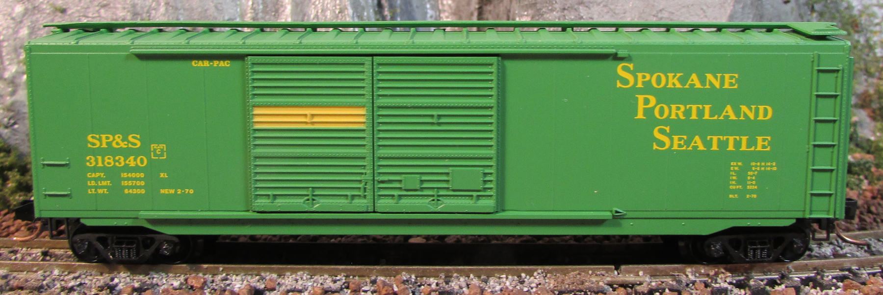 N Scale - Micro-Trains - 34040 - Boxcar, 50 Foot, PS-1 - Spokane Portland & Seattle - 318340