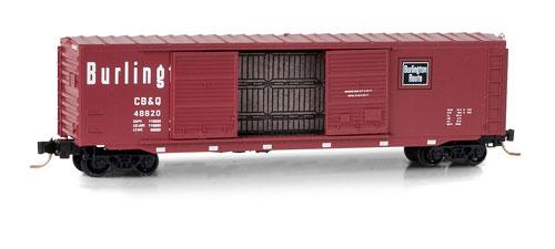 N Scale - Micro-Trains - 037 00 130 - Boxcar, 50 Foot, PS-1 - Burlington Route - 48620