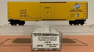 N Scale - Micro-Trains - 38180 - Boxcar, 50 Foot, Steel, Plug Door - Chicago & North Western - 32950