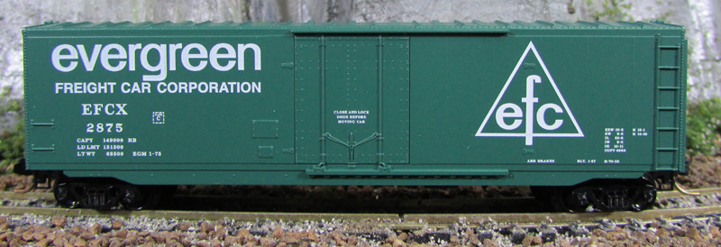 N Scale - Micro-Trains - 38260 - Boxcar, 50 Foot, Steel, Plug Door - Evergreen - 2875