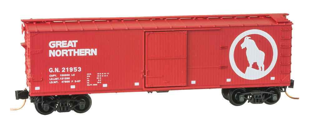 N Scale - Micro-Trains - 042 00 150 - Boxcar, 40 Foot, Double Wood Sheathed - Great Northern - 21953