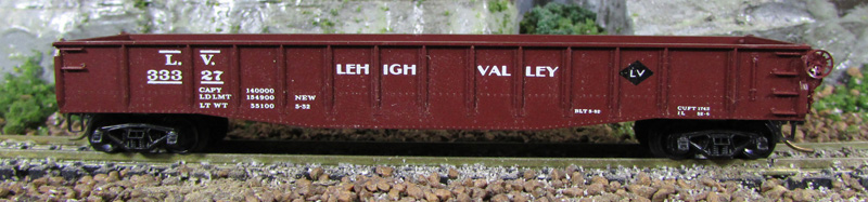 N Scale - Micro-Trains - 46100 - Gondola, 50 Foot, Steel - Lehigh Valley - 33327