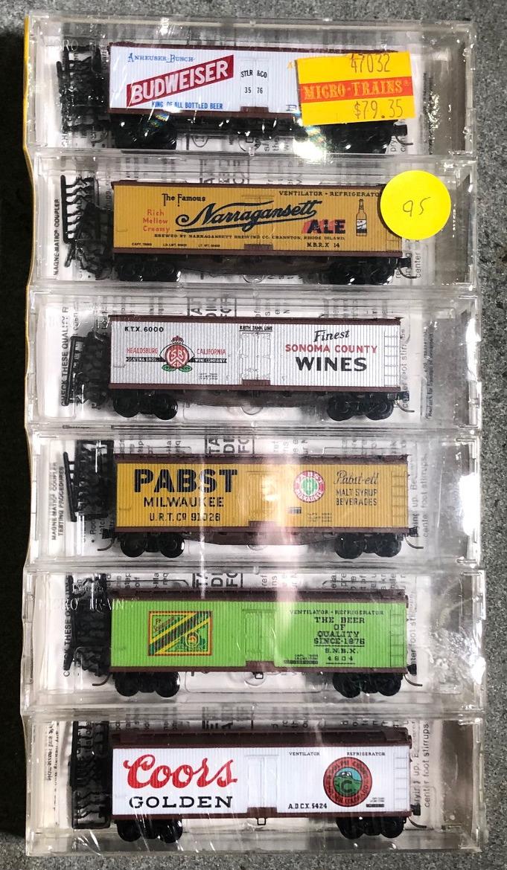 N Scale - Micro-Trains - 47032 - Reefer, Ice, Wood - Various - 6-Pack