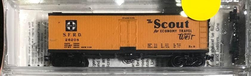 N Scale - Micro-Trains - 47220 - Reefer, Ice, Wood - Santa Fe - 26208