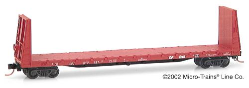N Scale - Micro-Trains - 54070 - Flatcar, Bulkhead - Canadian Pacific - 317137