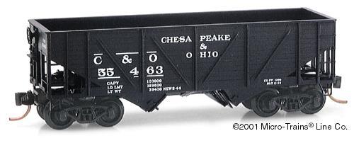 N Scale - Micro-Trains - 57070 - Open Hopper, 2-Bay, Composite - Chesapeake & Ohio - 55463