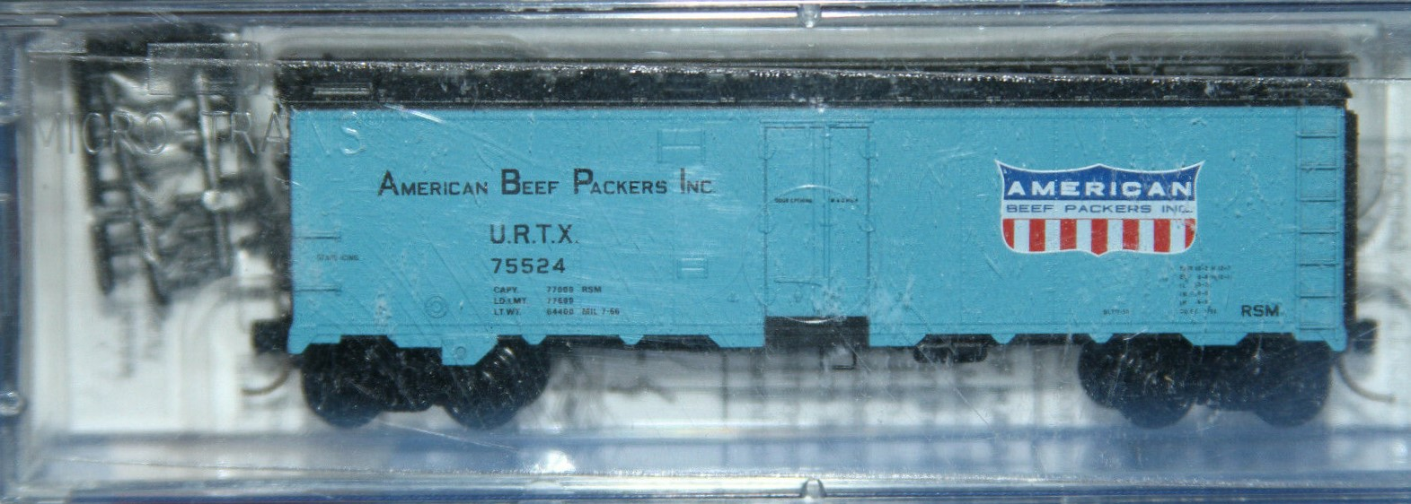 N Scale - Micro-Trains - 59540 - Reefer, 40 Foot, Steel - American Beef Packers Inc. - 75524