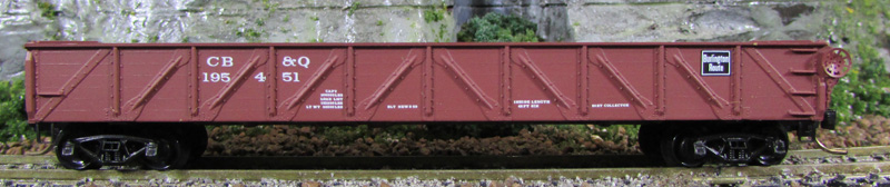 N Scale - Micro-Trains - 60020 - Gondola, Composite, Straight Side - Burlington Route - 195451