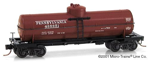 N Scale - Micro-Trains - 65230 - Tank Car, Single Dome, 39 Foot - Pennsylvania - 498651