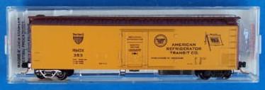 N Scale - Micro-Trains - 69050 - Reefer, 50 Foot, Mechanical - American Refrigerator Transit - 353