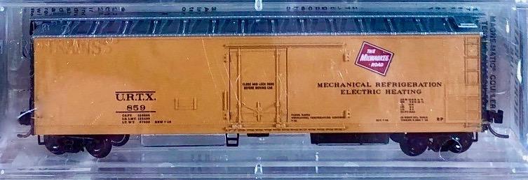 N Scale - Micro-Trains - 69060 - Reefer, 50 Foot, Mechanical - Milwaukee Road - 859
