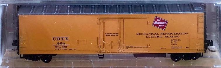N Scale - Micro-Trains - 69060 - Reefer, 50 Foot, Mechanical - Milwaukee Road - 864