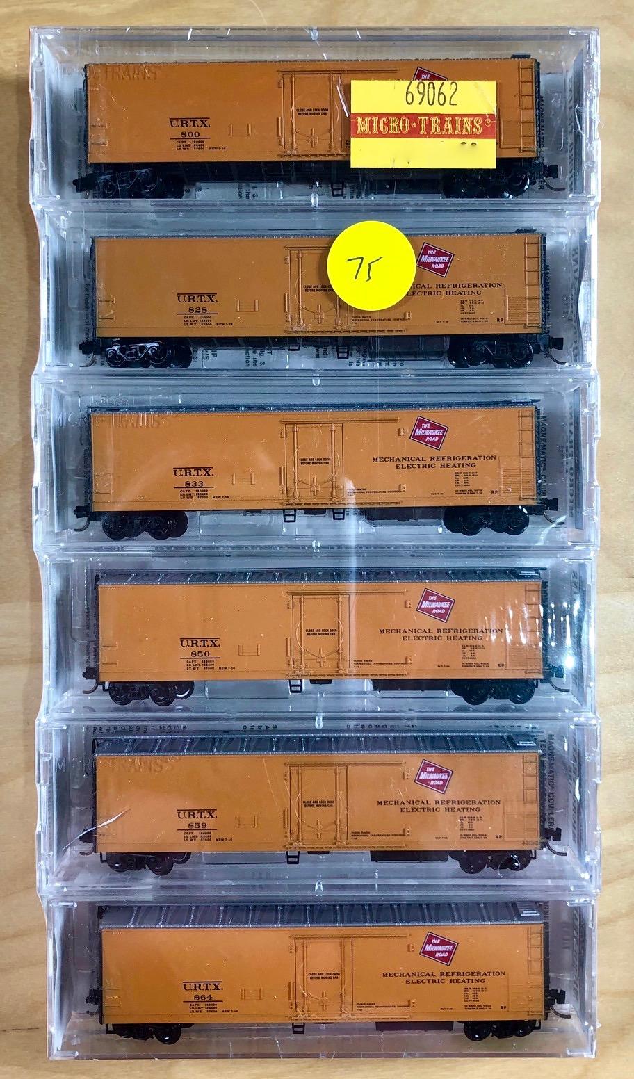 N Scale - Micro-Trains - 69062 - Reefer, 50 Foot, Mechanical - Milwaukee Road - 6-Pack