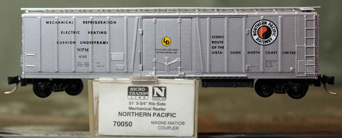 N Scale - Micro-Trains - 70050 - Reefer, 50 Foot, Mechanical - Northern Pacific - 632