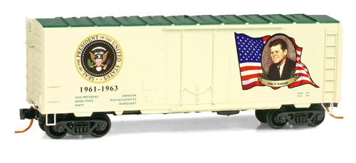 N Scale - Micro-Trains - 074 00 135 - Boxcar, 50 Foot, PS-1 - Presidential Cars - John F. Kennedy: 1961-1963