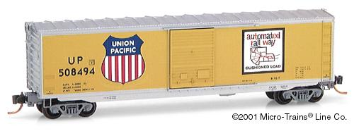 N Scale - Micro-Trains - 77090 - Boxcar, 50 Foot, PS-1 - Union Pacific - 508494