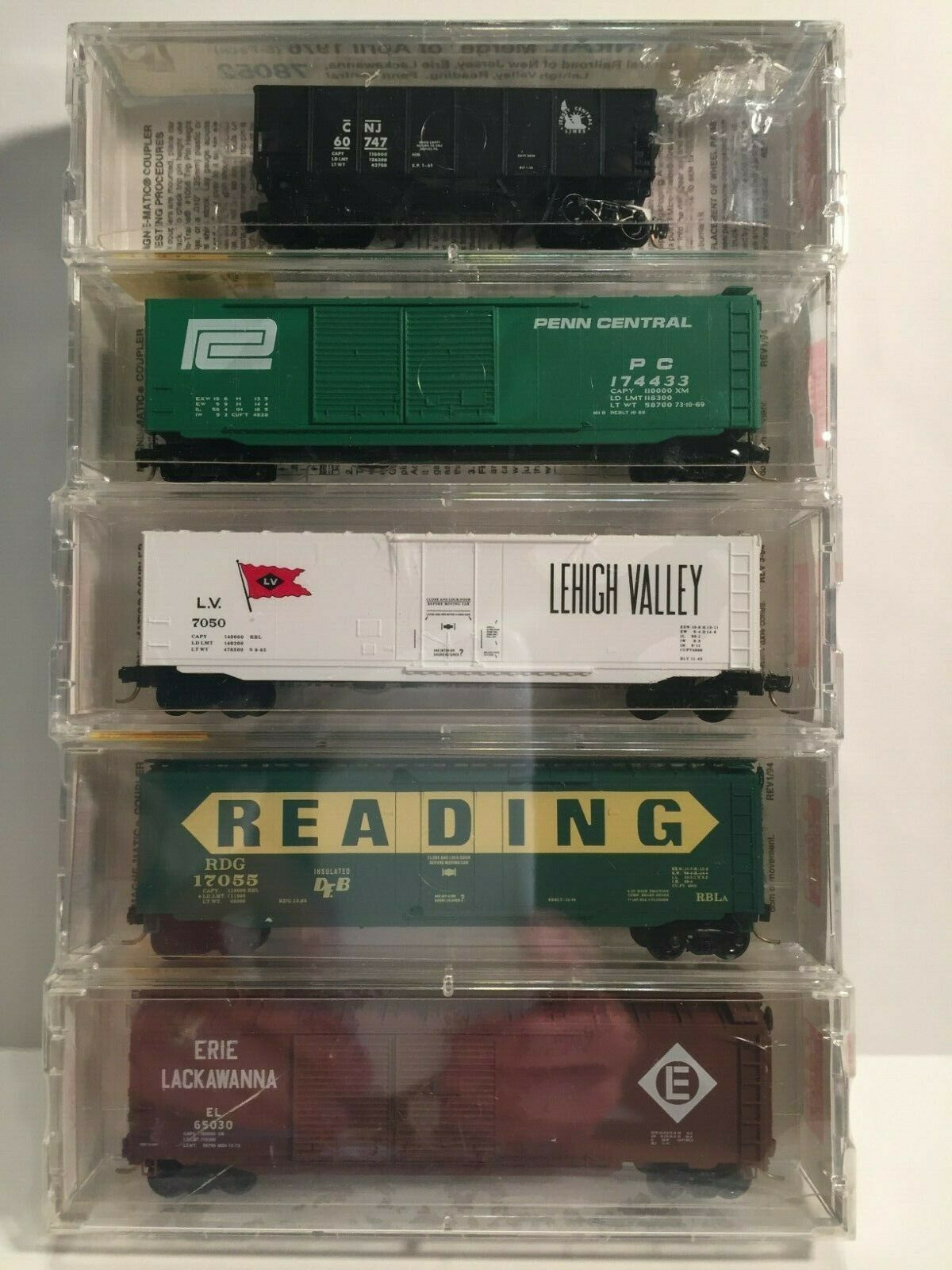 N Scale - Micro-Trains - 78052 - Mixed Freight Consist - Various - 5-Pack